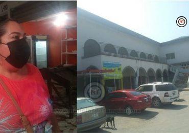 Locatarios del Mercado Santander en Altamira piden créditos flexibles.