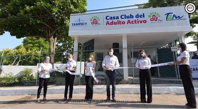 Inauguran Chucho Nader y Aída Féres de Nader Nueva Casa Club del Adulto Activo