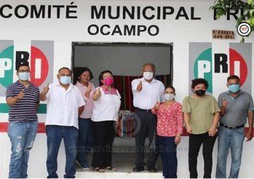 El PRI en Ocampo; una oposición débil, dividida y sin rumbo político