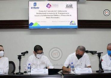 El ITAIT y  el Ayuntamiento de El Mante  firman convenio para   fortalecer la cultura de la transparencia y rendición de cuentas