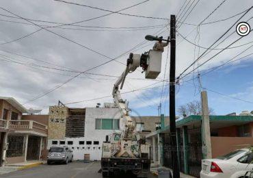 Continúan en Ciudad Madero con mantenimiento de alumbrado público