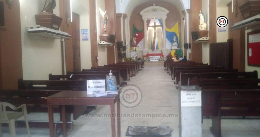 En total soledad se encontraron las iglesias en este festejo de San Judas Tadeo.