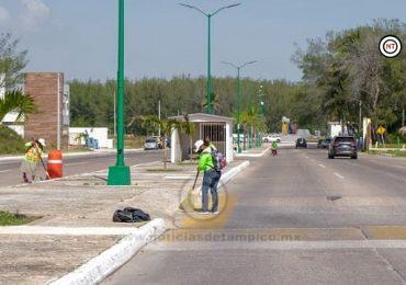Gobierno de Madero Intensifica Limpieza y Mantenimiento de Playa Miramar