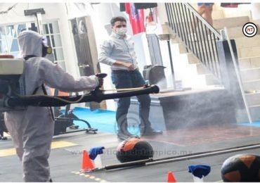Dos gimnasios reciben labores de desinfección en Ciudad Madero