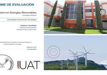 Acredita la UAT la Ingeniería en Energías Renovables Modalidad a Distancia