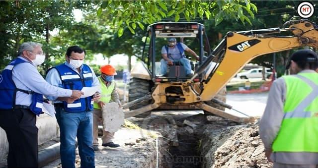 Soluciona Comapa añejo problema de drenaje en  Rinconada Chairel de Tampico