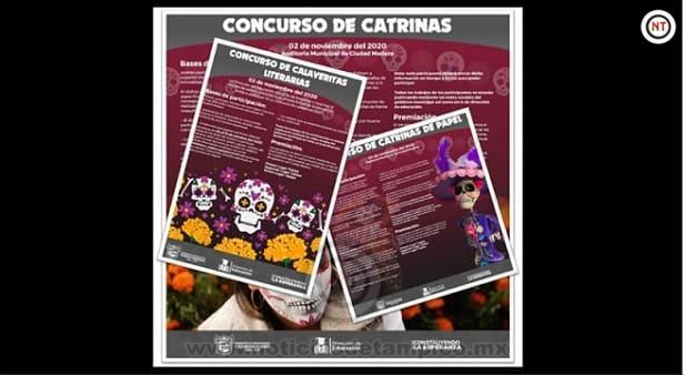 Invitan a Participar en Concursos de Catrinas y Calaveritas en Ciudad Madero
