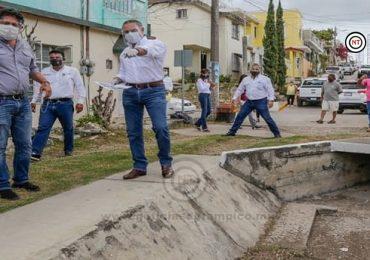 Desazolvan la red pluvial de Ciudad Madero