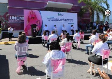 Conmemora Tamaulipas Día Internacional contra el cáncer de mama con actividades de sensibilización