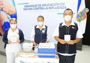 Gobierno de Tamaulipas prové de vacunas anti influenza a instituciones federales de salud