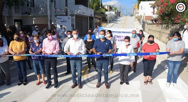 Inaugura Chucho Nader Nueva Obra de Pavimentación