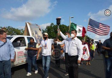 Llega Antorcha Guadalupana a Zona Sur; Lleva esperanza para Migrantes en EUA