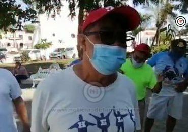 Protestan obreros por falta de empleo en Altamira.