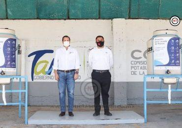 Entrega Comapa 2 estaciones de lavado al Ejército de Salvación de Tampico