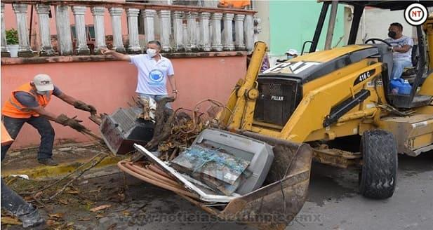 Chucho Nader Lleva Limpieza y Mejoramiento Urbano al Sector Infonavit