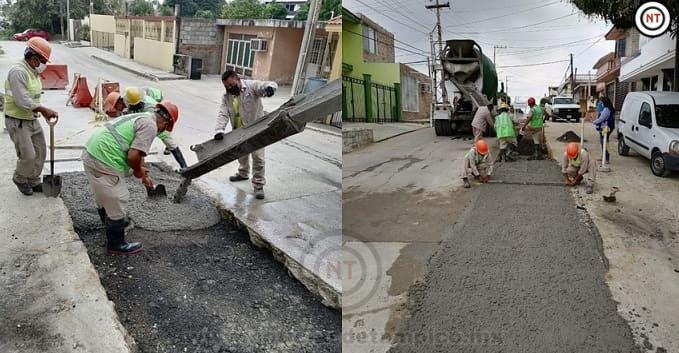 Comapa finaliza obra hidráulica en la colonia Los Pinos de Tampico
