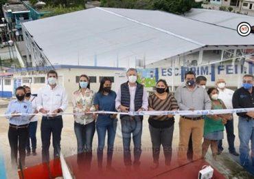 Inaugura Chucho Nader Moderna Techumbre en Escuela Primaria de la Morelos