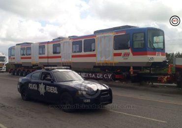 Trasladan  vagones de metro de Altamira  hacia Monterrey NL.
