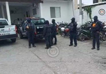 Toma Grupo de Policía Estatal a Transito de Cd. Madero.