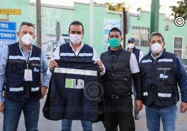 Entregan chalecos a personal municipal de filtro en Puente 2