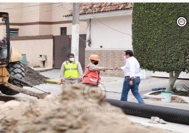 Supervisa Gerente de Comapa obras sanitarias en Ciudad Madero