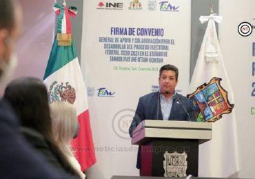 Garantiza Francisco Cabeza de Vaca elecciones limpias y ambiente de civilidad política.
