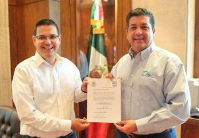 Entrega Gobernador nombramientos a Subsecretario de Desarrollo Económico y a Director del Instituto de la Juventud de Tamaulipas.